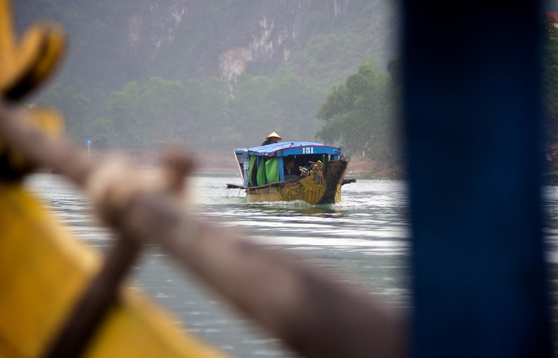 River boats: the only way in to the cave