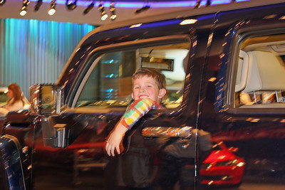 Aaron test drives a Hummer at the Test Track - Epcot