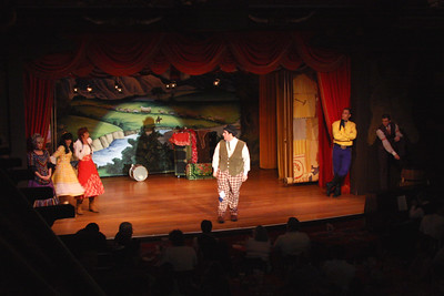 Hoop-Dee-Doo Review - Fort Wilderness Resort & Campground We took a boat ride from Magic Kingdom to the Fort Wilderness Resort to see this dinner show.  Ethan thinks it is the best restaurant he has ever been to.  We dined on cornbread, salad, ribs, chicken wings, mashed potatoes, baked beans, and strawberry shortcake.