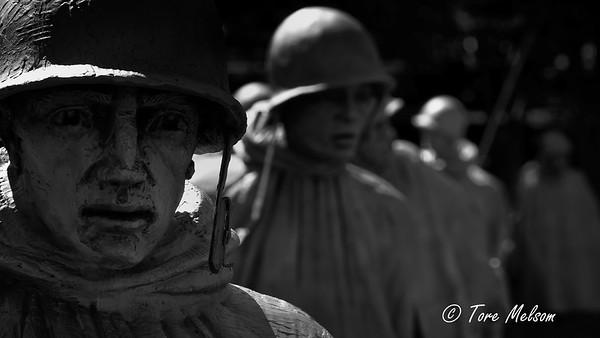 The Korean War Veterans Memorial, Washington DC