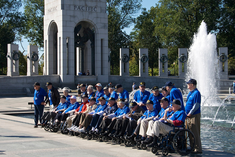Veterans at the World War II Memorial