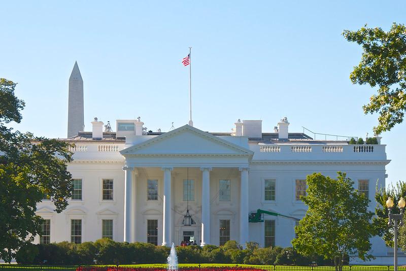 Washington Monument behind The White House