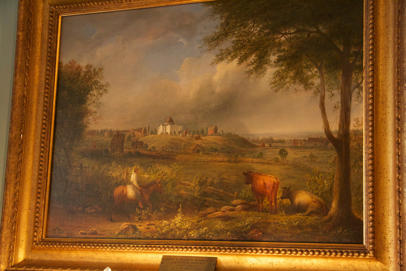 Capitol Hill in 1844, painting in the State Department