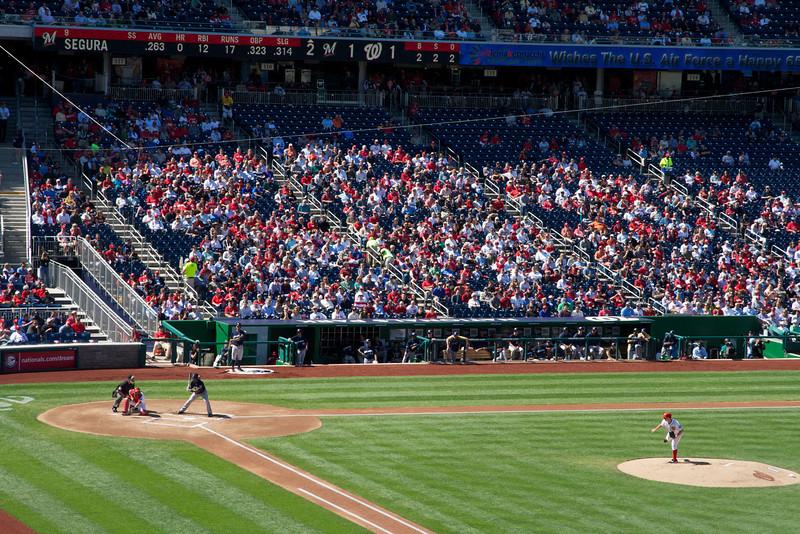 Batter-up, Washington Nationals game