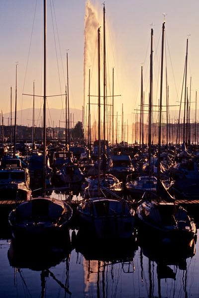 Geneve Marina, jet d'eau