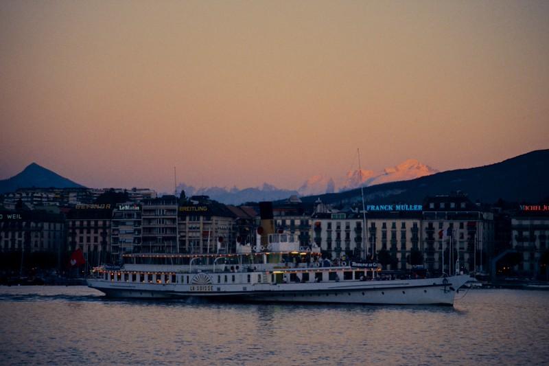 Geneve, La Suisse, Mont Blanc