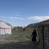 Yurts at Karakul Lake. We stayed in the right one