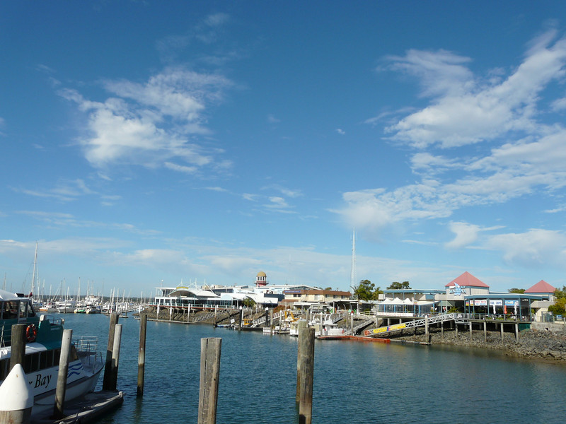 Waiting for the Ferry in Hervey Bay (pronounced Harvey Bay).