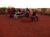 Breakfast in front of Uluru.