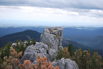 More great views from Harney Peak (we hiked to the top, 7242 ft elev.) in Custer State Park, Custer, SD
