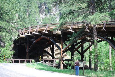 One of the pigtail bridges on Iron Mountain Road, Custer State Park, Custer, SD