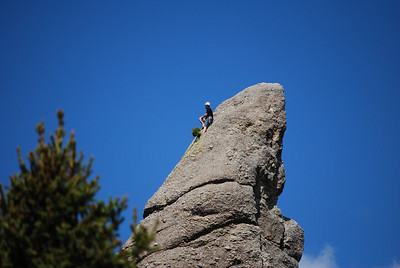 Close-up shot of the crazy guy in Custer State Park, Custer, SD