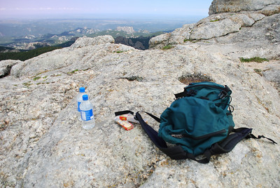 Lunch at the top of Harney Peak in Custer State Park, Custer, SD
