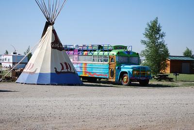 Fellow camper's rig, Boulder, WY