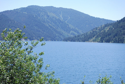 View of lake on lunch stop enroute from Boulder, WY to Victor, ID