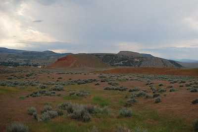 View from the road from Thermopolis to Buffalo, WY
