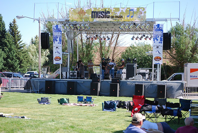 Setting up for a music festival, Driggs, ID