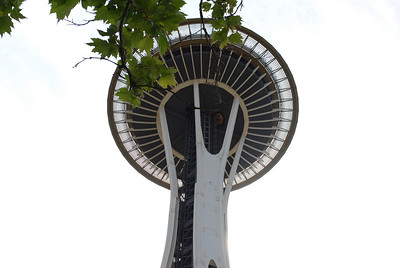 View from below the Space Needle, Seattle, WA