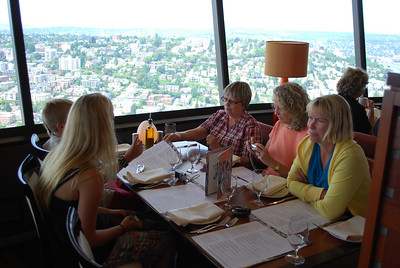 Lunch in the Space Needle, Seattle, WA