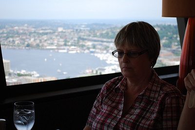 Aunt Phyllis on top of the Space Needle, Seattle, WA
