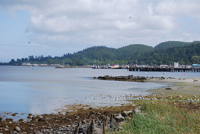 View from town on the Strait of Juan de Fuca, Neah Bay, WA