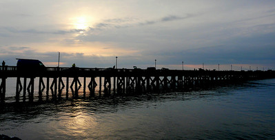 Pier at sunset (from the slips back to the clubhouse).