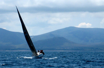 Racing, day 1.  Nice winds, lovely sun and great views.