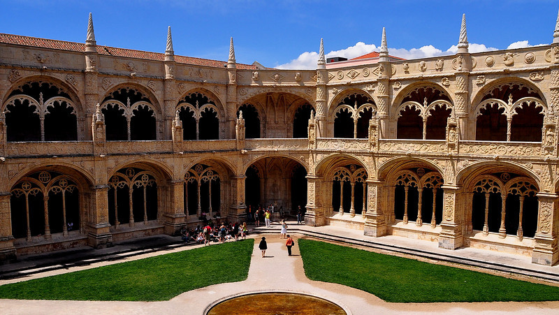 Inside the Mosteiro dos Jeronimos, in the Belem district of Lisbon.