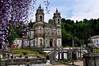 Bom Jesus - a catholic sanctuary near Braga.  It had a splendid Baroque staircase that some pilgrims like to climb on their knees.