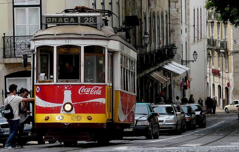 Lisbon tram.