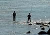 Da b'yes fishing in the Tagus River (Lisbon).
