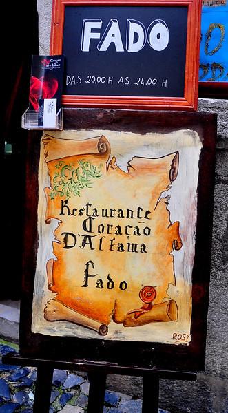 Fado in Alfama district of Lisbon.