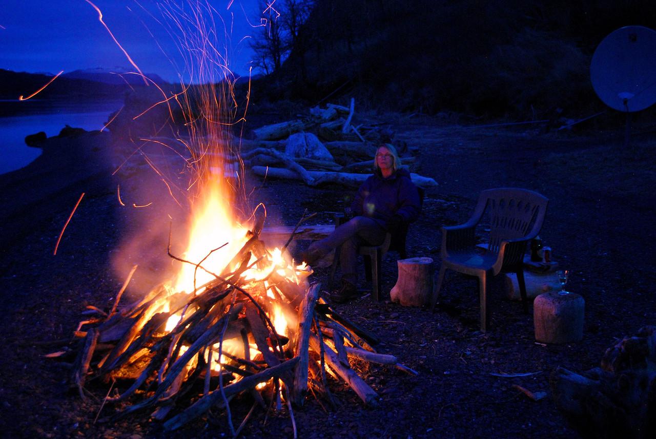 3-4-14   Anniversary Bonfire, Zachar Bay AK 003