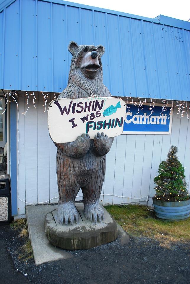 Gone fishing bear