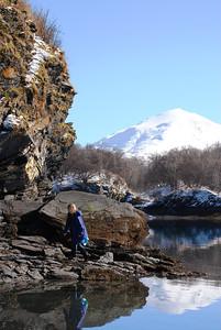 3-21-14  Hike to Bear Camp, Deer,  Zachar Bay AK 035