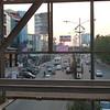 street scene from bridge over street
