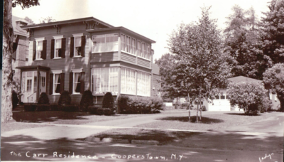 My first destination was 40 Elm Street, to see the home of Richard Carr, who lived on Elm Street his entire life of 78 years, and died in 2006. This photo is from an old postcard he had made of the residence.  The 2016 view of the house is in the next frame.