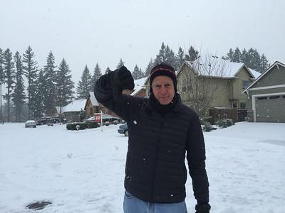 Oh, no! It's snow!