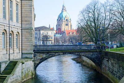 In the distance, the New City Hall, Hannover.