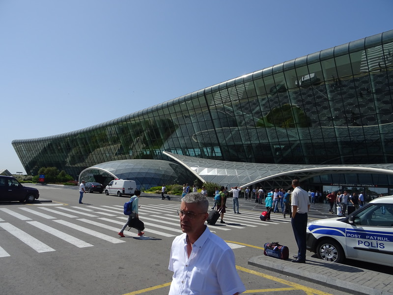 Heydar Aliyev International Airport (GYD) and the modern, inexpensive bus service to the center of Baku