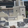 A close view of the 'cat' statue on top of ASU's Building D.