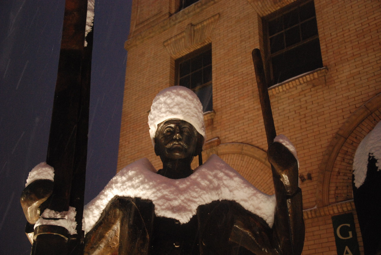 Olaus Statue in Rossland.