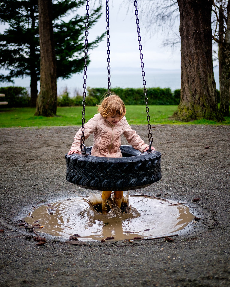 Tire Swing Mud Puddle