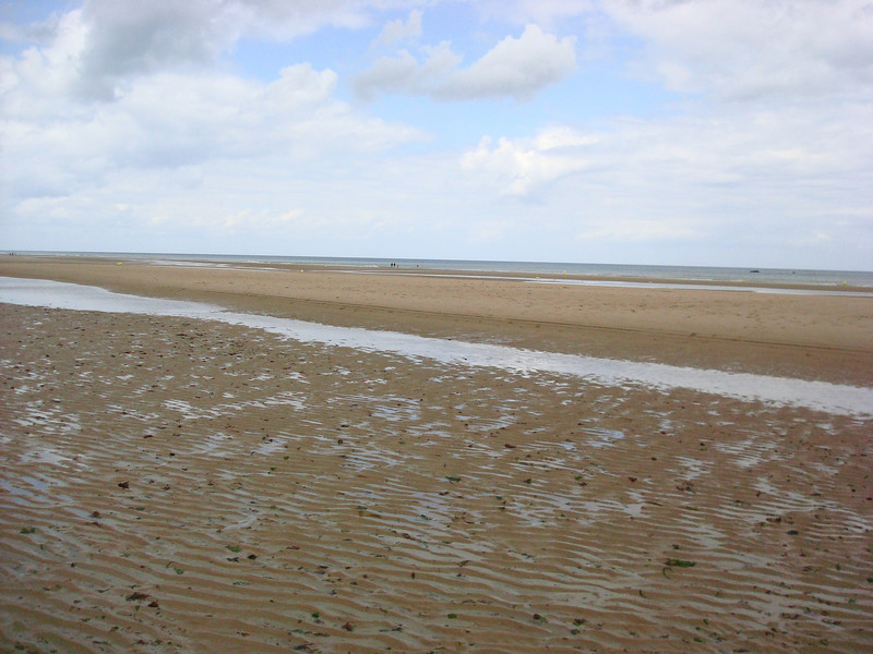 Omaha beach low tide