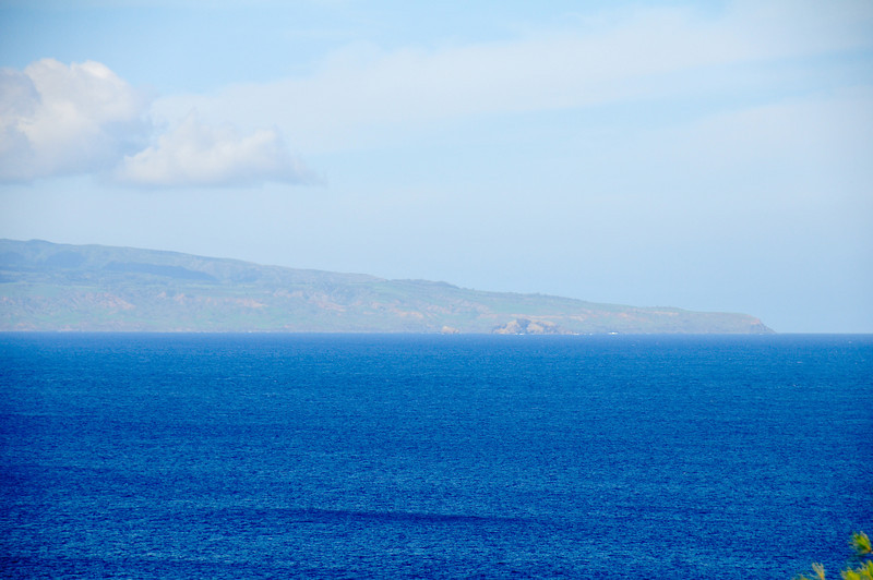 Lana'i looking west from maui.