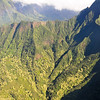 Helicopter view. West Maui mountains.