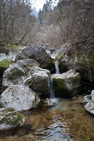Waterfalls in Valle S. Liberale - Fietta di Paderno del Grappa