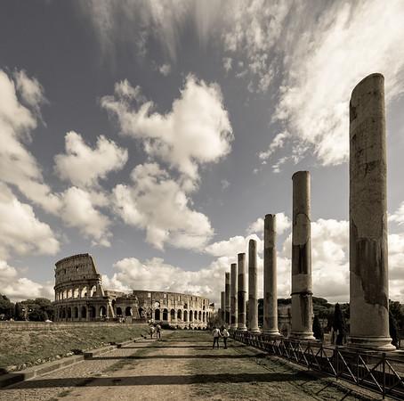 Colosseum as seen Via Sacra
