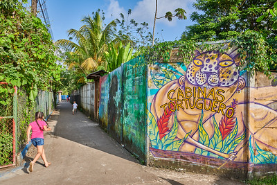 Tortuguero Village; Colorful alley