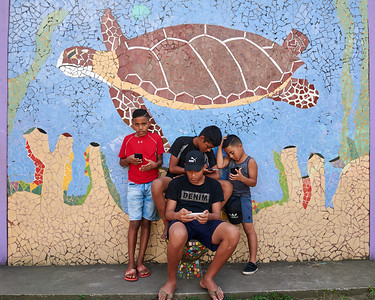 Tortuguero Village; Mural and Local Youth